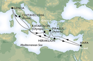 Itinerariu Croaziera MSC Fantesia